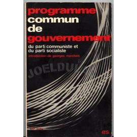 Programme Commun De Gouvernement de Programme Commun - Livre