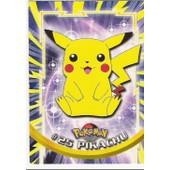 Pikachu (Pokemon N�25) Carte Topps - Tv Animation Edition