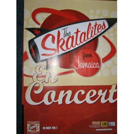 THE SKATALITES - AFFICHE CONCERT - 70X100