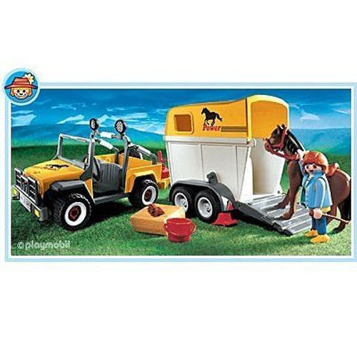 playmobil 3249 cavali re avec jeep van et cheval achat et vente. Black Bedroom Furniture Sets. Home Design Ideas