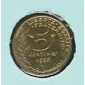 France 5 Centimes 1996 Col � 4 Plis