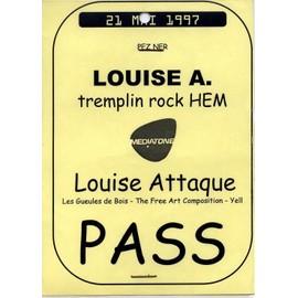 Pass Louise Attaque - PezNer