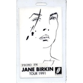 Pass Jane Birkin - Tour 1991