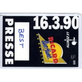 Pass Presse (BEST) Ricard Live au Zenith - 16/03/1990
