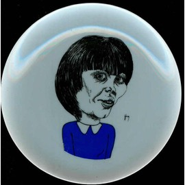 mireille mathieu - assiette caricature 1970 signe van