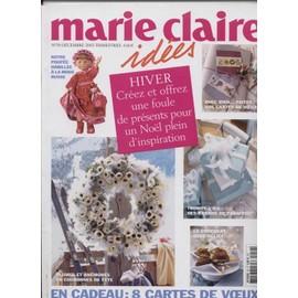 Marie Claire Id�es N� 59 : Hiver Cr�ez Et Offrez Une Foule Depr�sents Pour Un No�l Plein D'inspiration