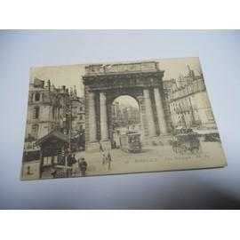 Carte Bourgogne Blanc.33 Gironde Carte Ancienne En Noir Et Blanc De 1915 Bordeaux Porte