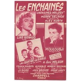 """Les Enchaînés """"Unchained Melody"""" (Pierre Delanoë / Alex North, 1955) Line Renaud / Mouloudji / Guy Nelson / Les Quatre de Paris"""