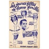Les Jeunes Filles De Bonne Famille (Henri Kubnick / Guy Lafarge, 1947) Jacques H�lian / Odette Laure / Georgette Plana / Ginette Garcin / Jacqueline Ricard