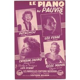 Le piano du pauvre (Léo Ferré / 1954) Patachou / Catherine sauvage / Les garçons de la rue / lucien jeunesse
