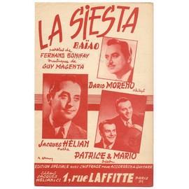 La siesta (Fernand bonifay / Guy magenta / 1955) dario moreno / Jacques hélian / Patrice & Mario