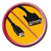 cable DVI male HDMI male CORDON 1.5 metre BLINDE CONNECTIQUE OR