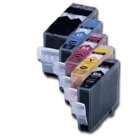 Pack Compatible Cli-8bk/Y/C/M/Pgi-5bk (Noir+Jaune+Cyan+Magenta+Noirgrdecontenance) Pour Canon Pixma Ip3300, Ip4200, Ip5200, Mp500, Mp800