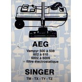 Lot 5 Sacs Aspirateur AEG Vampyr 500 � 508 - 602 � 610