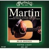 Martin Bronze 80/20 M170f - Jeu De Cordes Extra Light 10-47 Pour Guitare Folk Acoustique