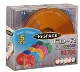 Hi Space FULL COLORS 5 x CD R 700 Mo 80 min 32x boîtier CD
