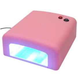36w Lampe Uv Ongles Manucure Pro Timer Nail Machine Dryer Outil Rose
