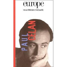 Europe N� 861-862 Janvier-F�vrier 2001 : Paul Celan