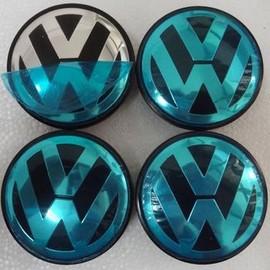4 caches moyeux vw volkswagen centres de roues 75mm touareg. Black Bedroom Furniture Sets. Home Design Ideas