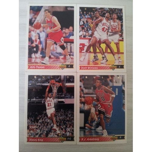 4 Cartes Upper Deck Nba 92-93