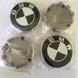 4 logo bmw noir 68mm centre de roue cache moyeu jante embl me jantes m insigne. Black Bedroom Furniture Sets. Home Design Ideas
