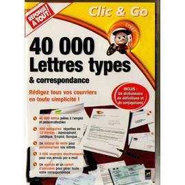 logiciel 40000 lettres types correspondance gratuit