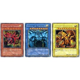 Yu-Gi-Oh! - 3 Dieux égyptiens: Slifer the sky dragon, obeliskthe tourmentor, the winged dragon of ra, Cartes anglaises