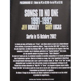 "JEFF BUCKLEY - GARY LUCAS : ""Songs to no one"" + poster au verso - Plan média"