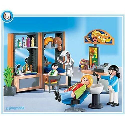 Playmobil 4413 coiffeuse et salon de coiffure achat et for Achat salon de coiffure