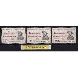 450 �me Anniversaire De L' Ordonnance De Villers-Cotter�ts. 1989. Y & T 2609