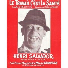 Henri SALVADOR : Le Travail C'est la SANTE 1965
