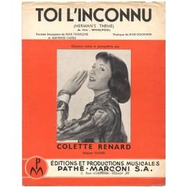 "toi l'inconnu ""herman's theme"" ( du film ""Whirlpool"" 1959) colette renard"