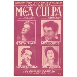 mea culpa (grand prix de la chanson française deauville 1954) edith piaf, mouloudji