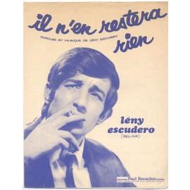 il n'en restera rien (1963) leny escudero