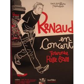 """AFFICHE DE RENAUD EN CONCERT """"TOURNÉE ROUGE SANG"""""""