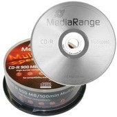 MEDIARANGE CAKE BOX DE 25 CD-R 52x 900 Mo 100 Min