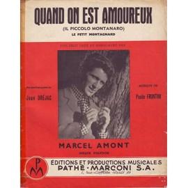 Quand on est amoureux : Marcel AMONT 1956