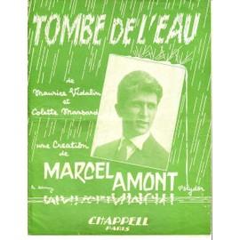 Tombe de l'eau : Marcel AMONT 1961