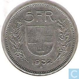 5 francs argent suisse 1932 confoederatio helvetica rakuten. Black Bedroom Furniture Sets. Home Design Ideas