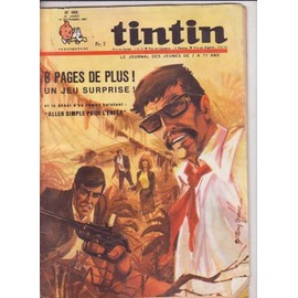 Journal De Tintin N� 986 : Aller Simple Pour L Enfer