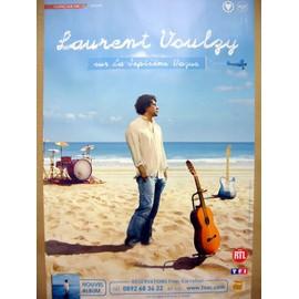 LAURENT VOULZY - AFFICHE OFFICIELLE CONCERT  - TOUR 2007  -  80 X 120CM