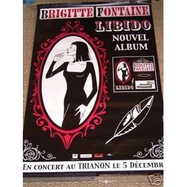 AFFICHE BRIGITTE FONTAINE LIBIDO TOUR 2006 TRIANON PARIS