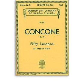 Concone opus 9 Fifty lessons for low voice