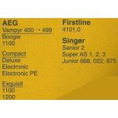 Lot de 5 sacs aspirateur Interfilter Ref AE 18 -102 - Pour AEG, FIRSTLINE, SINGER