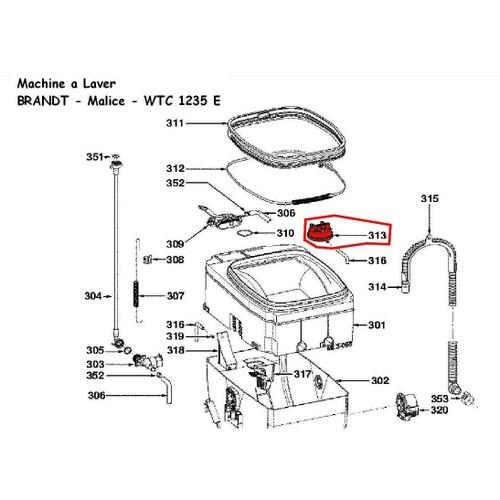 52x0126 pressostat lave linge fagor brandt vedette thomson. Black Bedroom Furniture Sets. Home Design Ideas