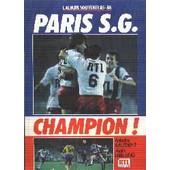 Psg Champion - Album Souvenir 85-86 de fabrice baledent