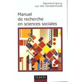 Manuel De Recherche En Sciences Sociales de Raymond Quivy
