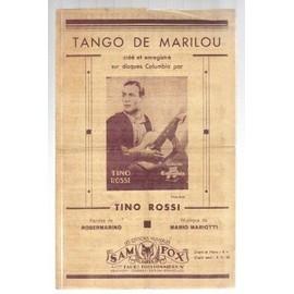 """partition ancienne - tino rossi """"tango de marilou"""""""