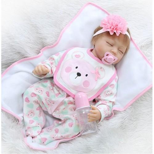 55 cm npkcollection doux silicone reborn de couchage b b poup e r aliste nouveau n baby alive. Black Bedroom Furniture Sets. Home Design Ideas