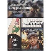 Claude Lelouch - Coffret N� 3 (3 Dvd) - Pack 3 Films : Les Parisiens ,Les Mis�rables ,Tout �a..Pour �a! de Claude Lelouch